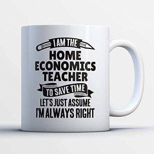 Home Economics Teacher Coffee Mug – I Am The Home Economics Teacher - Funny 11 oz White Ceramic Tea Cup - Cute Home Economics Teacher Gifts with Home Economics Teacher Sayings (Halloween 2017 I Told My Kids)