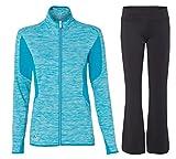 Adidas Women's Jacket and Yoga Pants, Top: X-Large, Bottom: XX-Large, Solar Blue