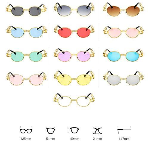 Soleil Retro Fashion Sunglasses De Femmes Hommes Aiweijia Round C6 Et Frame Lunettes OA8zxS