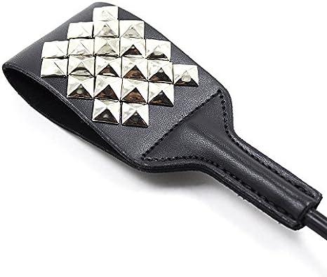 Flōgg/érs Sp/à-ki-g Plat Clout/é Clout/é Paddle Accessoires de sc/ène Cravache Cravache d/équitation Cadeau amusant 52,8 cm