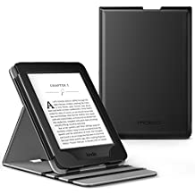 MoKo Case for Kindle Paperwhite, Premium Vertical Flip Cover with Auto Wake / Sleep for Amazon All-New Kindle Paperwhite (Fits All 2012, 2013, 2015 and 2016 Versions), BLACK