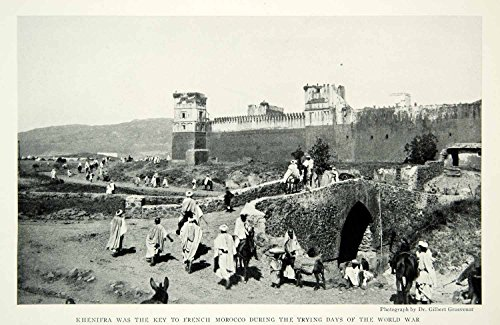 1932 Print Khenifra Morocco African Town City Historical Image Atlas Land NGM9 - Original Halftone Print from PeriodPaper LLC-Collectible Original Print Archive