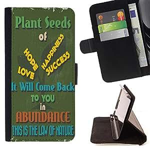 King Case - FOR Samsung Galaxy S4 Mini i9190 - it will come back - Prima caja de la PU billetera de cuero con ranuras para tarjetas, efectivo Compartimiento desmontable y correa para la mu?eca