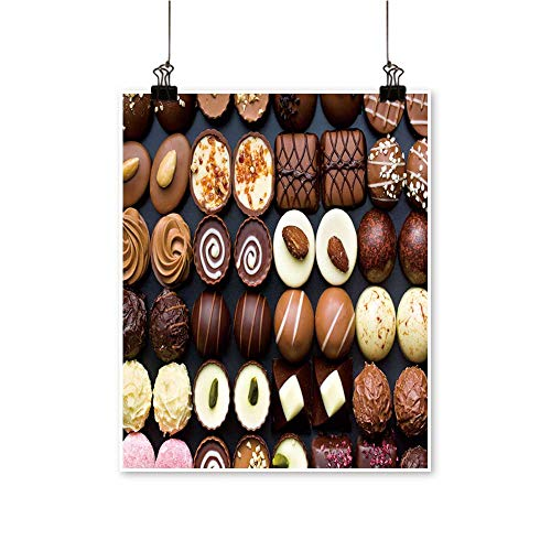 (Canvas paintingtop Variety Chocolate pralines Artwork for Living Room Decorations,32