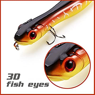 Fishing Lures Topwater Pencil Popper Plastic Casting Trolling Fish Crankbaits