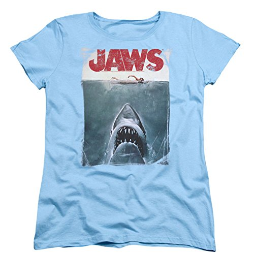 Jaws Title Short Sleeve Womens Tee Shirt