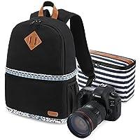 Kattee Professional Canvas SLR DSLR Camera Case Backpack Laptop Bag