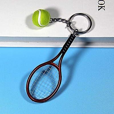 Cute Keyring Perfect Gifts Key Accessory Mini Tennis Racket Pendant Keychain