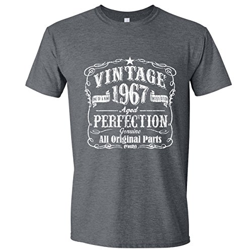 Feisty and Fabulous Vintage 50th Birthday Husband, 50th Birthday Mens Gifts, Gray, Large