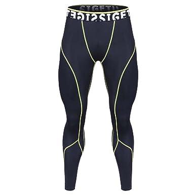 Rera Herren Sport Leggings lang Patchwork Pro Cool Compression Tights  Männer Funktionswäsche Pants 26bf10fd06