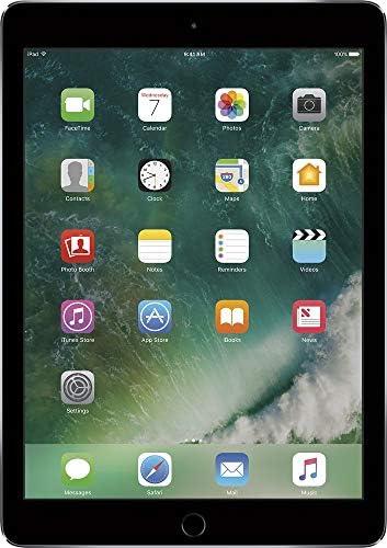 "Apple iPad Air 2 9.7"" Tablet - 64GB, WiFi, Space Gray - Bundle with Logitech Blue Hinge Flex Case (Renewed)"