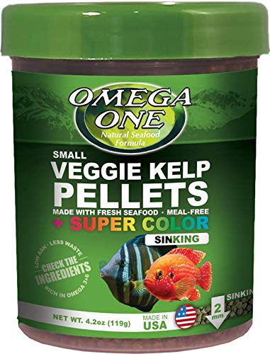 Omega One Super Color Kelp Sinking Pellets, 4.2 Ounces Per Container