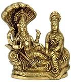Maa Padma Farms Brass Astadhatu (8 Metals) Made Shri Lakshmi Narayan Idol