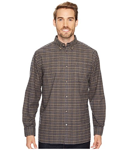 Pass Plaid Shirt (Mountain Khakis Men's Downtown Flannel Shirt, Navy, Small)