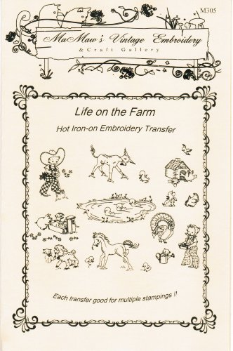 Life on the Farm Hot Iron Embroidery Transfers ()