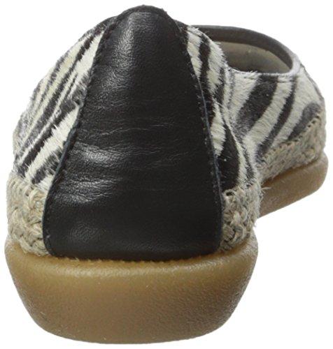 De Torri Ballet Vlakke Zebra / Zwarte Cavalino / Patent Van Flexxvrouwen