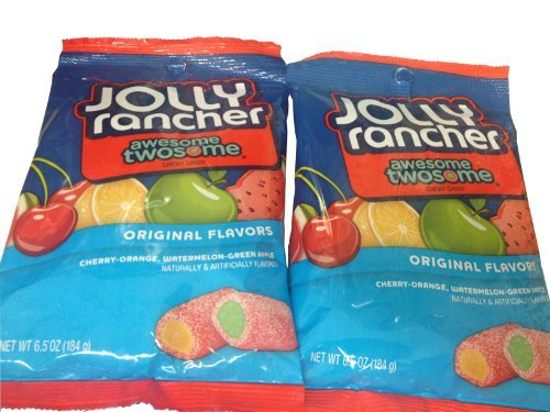 Jolly Rancher Awesome Twosome Fruit Chews, 184g (Pack of 2) ()