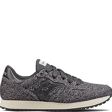 Saucony Originals Women's DXN Trainer CL Knit Sneaker, Black, 5 Medium US