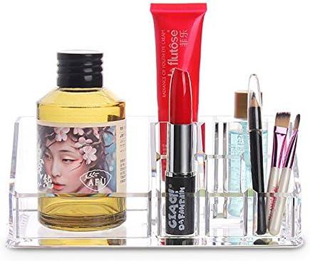 DEBEME - Estuche de maquillaje de acrílico transparente para guardar uñas, pinceles de maquillaje y maquillaje: Amazon.es: Hogar