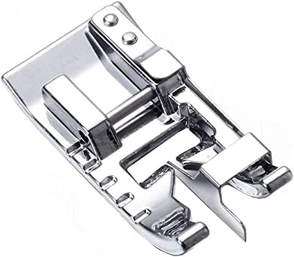 Euro-Pro YEQIN Roller Sewing Machine Presser Foot New Home Kenmore Babylock Janome White Etc Brother Juki Fits All Low Shank Snap-On Singer Elna Simplicity
