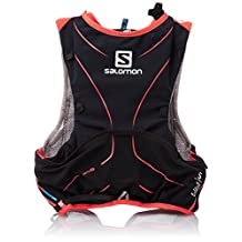 Salomon S-Lab ADV Skin3 5-Set Hydration Pack: Aluminum/Black/Racing Red, XS/SM