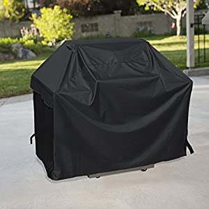 UNICOOK Heavy Duty Waterproof Barbecue Gas Grill Cover, 55-inch BBQ Cover, Special Fade and UV Resistant Material, Durable and Convenient, Fits Grills of Weber Char-Broil Nexgrill Brinkmann and More from UNICOOK