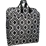 WallyBags 52'' Fashion Garment Bag with Pockets, Black/Grey