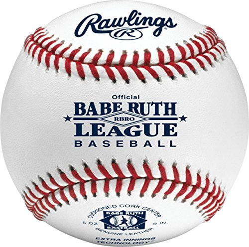 Rawlings Raised Seam Tournament Grade Babe Ruth League Baseball, 12 Count, RBRO (Grade Leather Baseball)