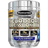 MuscleTech NeuroCore, Icy Blue Raspberry Explosive Pre Workout, 33 Servings