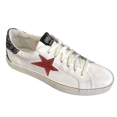 vasta selezione di d755b 1dd71 Ovyè by Cristina Lucchi Art. AM 350 Sneaker in Pelle Bianca ...