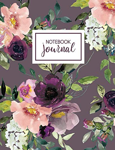 - Notebook: Purple Floral Fantasy Notebook Journal, 8.5 x 11, College Ruled Composition Book
