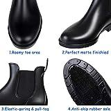 Women's Short Rain Boots Waterproof Black Elastic
