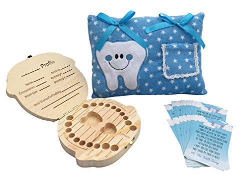 Tooth Fairy Kit - 1 Tooth Fairy Pillow Boy - 1 Tooth Fairy Box - 20 Tooth Fairy Letter ()