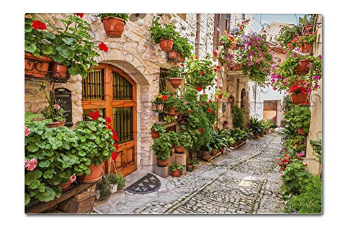Umbria, Italy - Street Scene in Small Italian Town - Photography A-91554 (8x12 Premium Acrylic Puzzle, 63 Pieces)