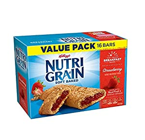 Kellogg's Nutri-Grain Cereal Bars (Strawberry Big Pack, 1.3 oz, 16-Count Box, Pack of 3)