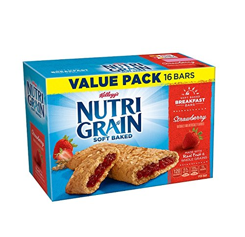 Kellogg's Nutri-Grain Cereal Breakfast Bars, 16 Count Box (Pack of ()