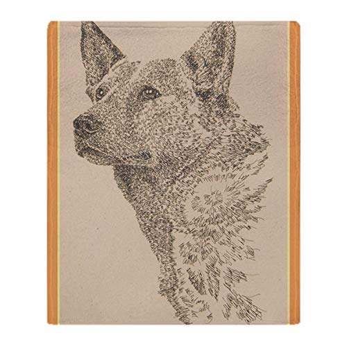 CafePress Australian_Cattle_Dog_Kliney Soft Fleece Throw Blanket, 50