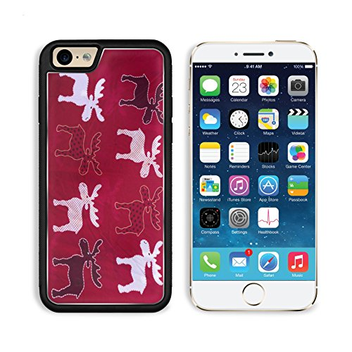 Apple iPhone 6 6S Aluminum Case deer design printed woven fabric for sale on the market IMAGE 34972746 by MSD Customized Premium Deluxe Pu Leather generation Accessories HD Wifi Luxury Protector (Fabric Aluminum Woven)