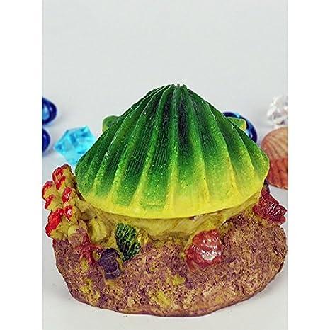 JUZIPI Decoración para Acuario con Acuario, Diseño de pecera, Color Amarillo y Verde: Amazon.es: Productos para mascotas