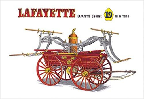 ArtParisienne Lafayette: Lafayette Engine 19 New York Harold Vincent Smith 12x18 Poster Semi-Gloss Heavy Stock Paper Print