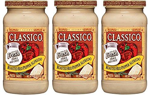 - CLASSICO ROASTED RED PEPPER ALFREDO 15oz 3pack