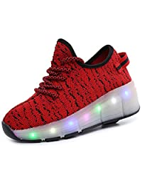 Kids Boy and Girl's LED Light Up Roller Shoes Wheel Skate Flashing Sneakers(Toddler/Little Kid/Big Kid)
