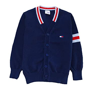 88e397fae Coralup Boy s Button Front Knitted Long Sleeve Cotton V-Neck ...