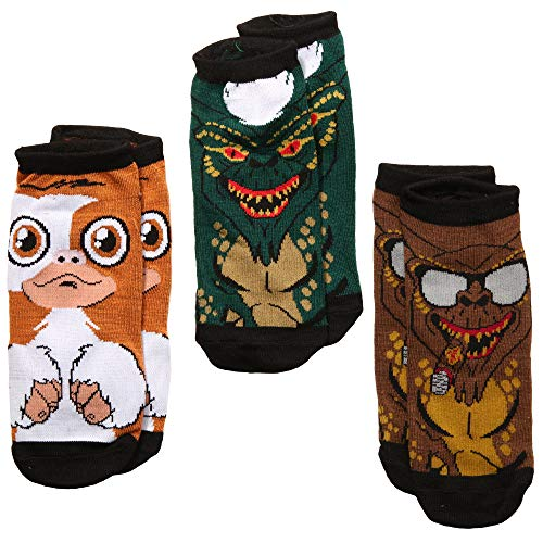 Gremlins Gizmo, Stripe, George 3-pack Adult No Show -