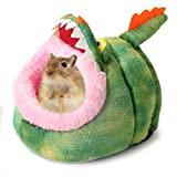 Hamster Cute House Nest Cozy Warm Plush Cotton Sleep Bed Cave for Hedgehog Cat Rabbit Hamster Guinea Pig Chinchilla (S, Crocodile) For Sale