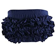 Wennikids Baby Girl's Cotton Shorts and Diaper Cover Bloomers Small Navy Blue
