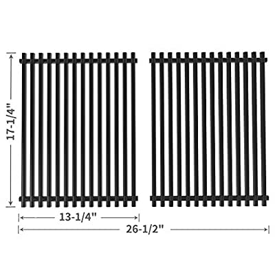SHINESTAR 17-1/4 inch Grill Grate Replacement for Charbroil 463411512, 463411911, Kenmore 122.16134, Nexgrill, Master Forge 1010037 and More, Porcelain Steel BBQ Cooking Grate Barbecue Grid(SS-KW009)