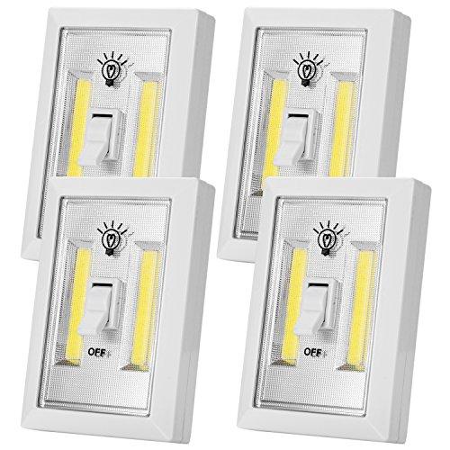 Closet Light, Battery Operated Light, Tap Light, Touch Light, Night Light, Utility, Wall Wireless Mount Under Cabinet, Shelf, Shed, Kitchen, Garage, Attic, RV, DIY(4-Pack)