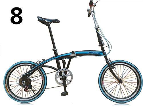 20インチ 折りたたみ自転車 折畳自転車 おりたたみ自転車全11色 おりたたみ自転車W423 B00QA14L8K ブルー8 ブルー8