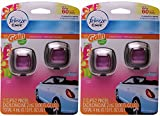 Febreze Car Vent Clip Air Freshener, Gain Island Fresh Scent, 2 Count, (Pack of 2)